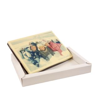Chocolade Moederdag kaart met foto 18 x 12 cm
