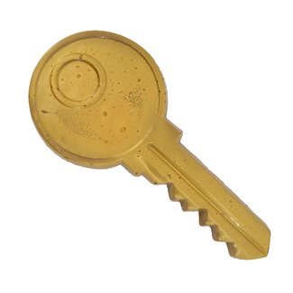 Chocolade sleutel 20 cm GOUD