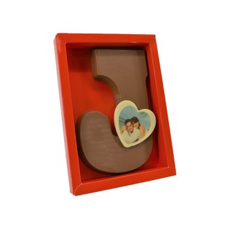 Chocolade Love Letter met foto hartje 17 x 12 cm