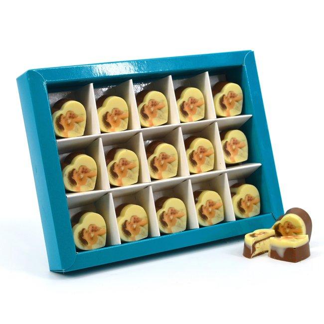 Bonbons hartje 15 stuks met foto