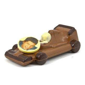 Chocolade Formule 1 racewagen 22 cm met foto of logo