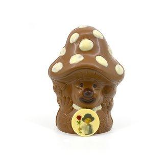 Chocolade Paddenstoel 25 cm met foto of logo