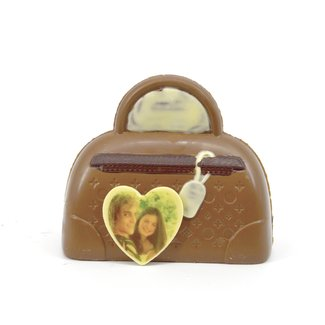 Chocolade Handbagage 19 cm met foto of logo