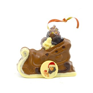 Chocolade Arrenslee 20 cm met foto of logo