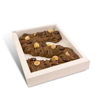 Chocolade spuitletter ca 200 gram