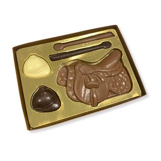 Chocolade paardrij set 200 gram