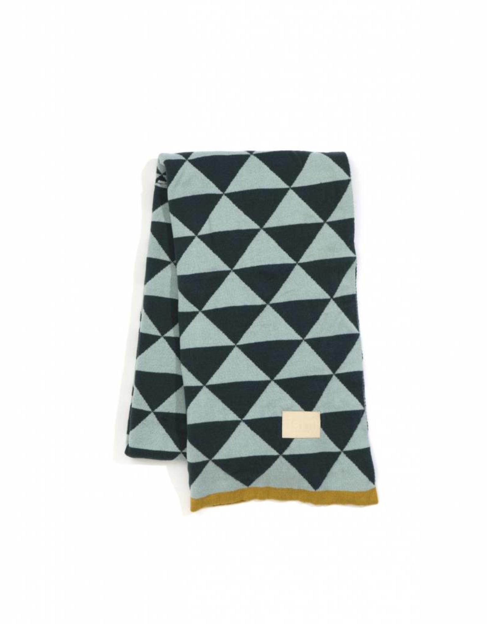 Ferm Living Remix Blanket Blue