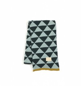 Ferm Living Remix Blanket Blue