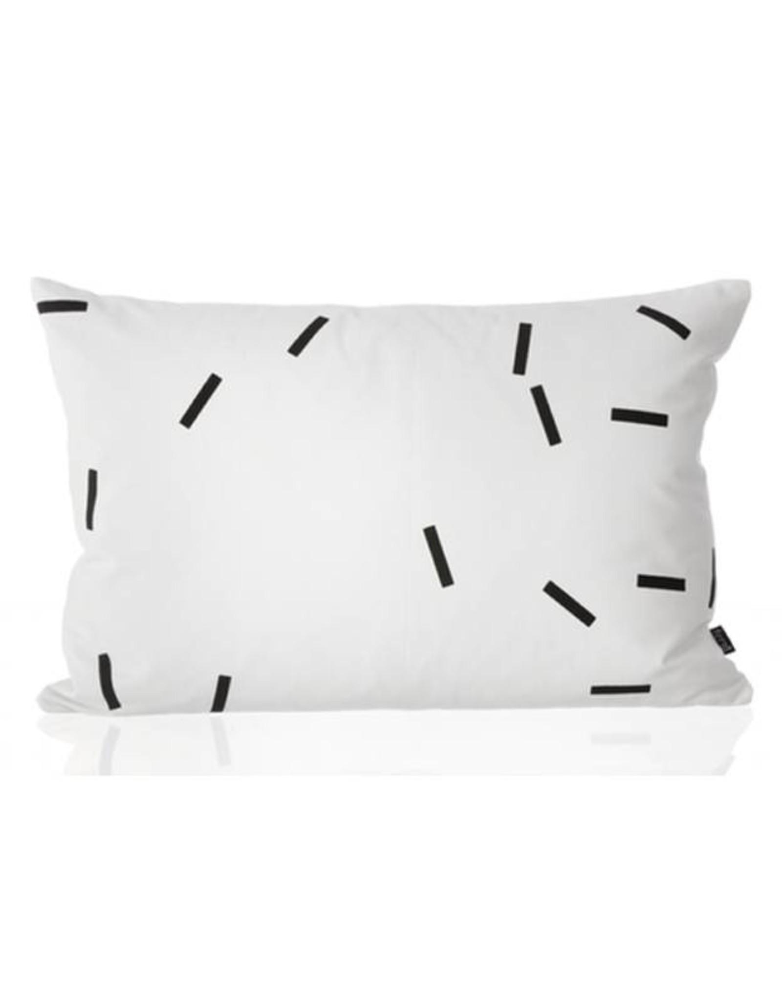 Ferm Living Black Mini Stick Cushion