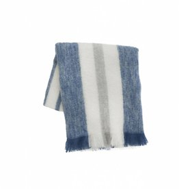 Ferm Living Mohair Throw Bleu