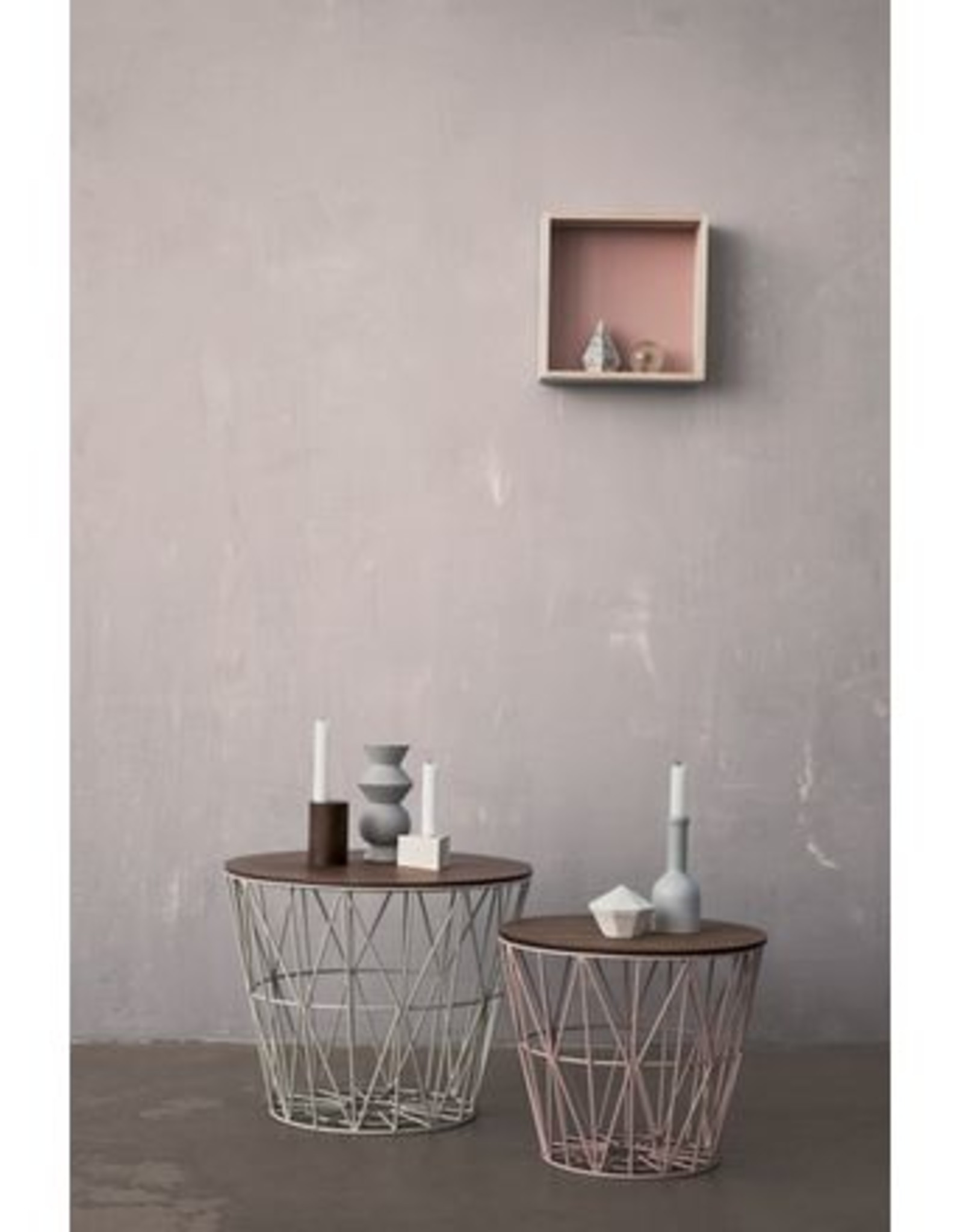 Ferm Living Ferm Living Wire Basket Mint Small