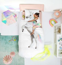 Snurk White Unicorn Duvet