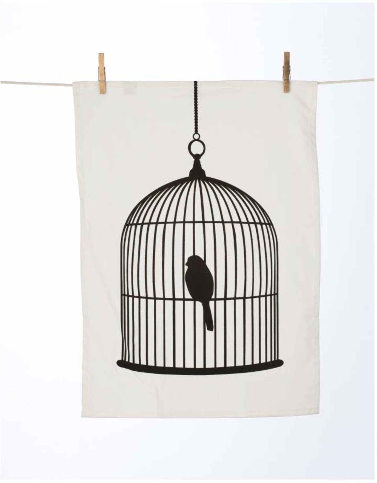 Bird Cage Tea Towel