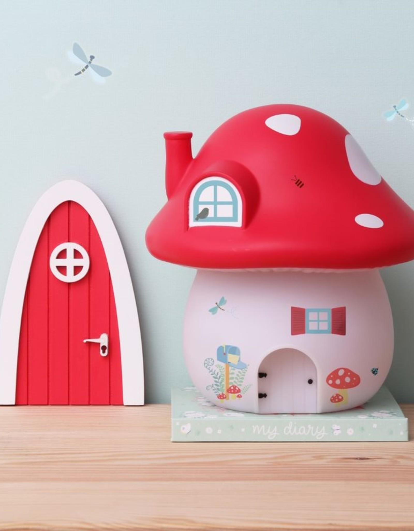 A Little Lovely Company Nachtlamp Paddenstoel huisje bos