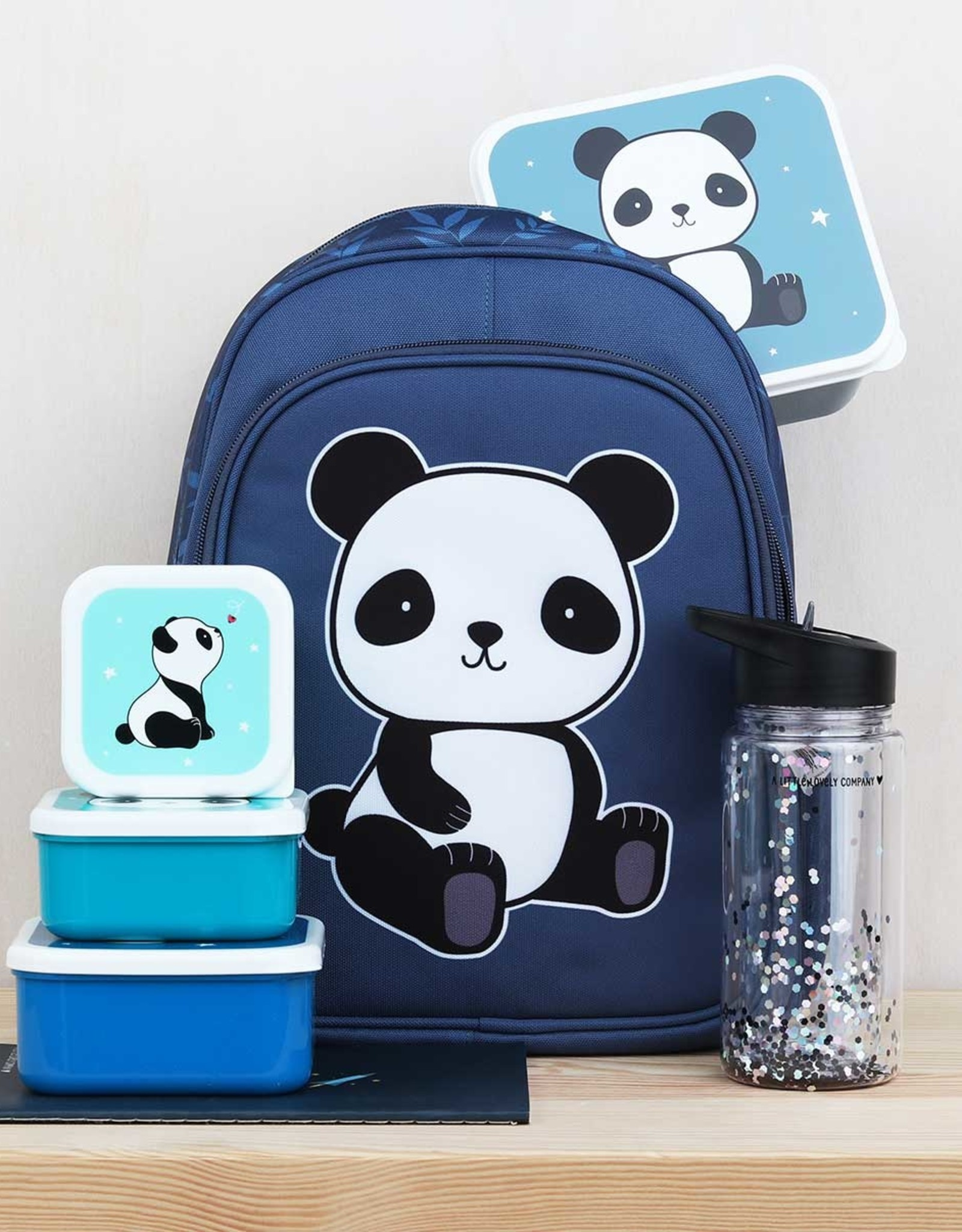 A Little Lovely Company Panda lunch & snack box set