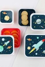 A Little Lovely Company Ruimte lunch & snack box set