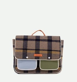 Sticky Lemon School bag wanderer sandy beige checks
