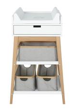 Quax Changing Table - Hip + Drawer - White/naturel