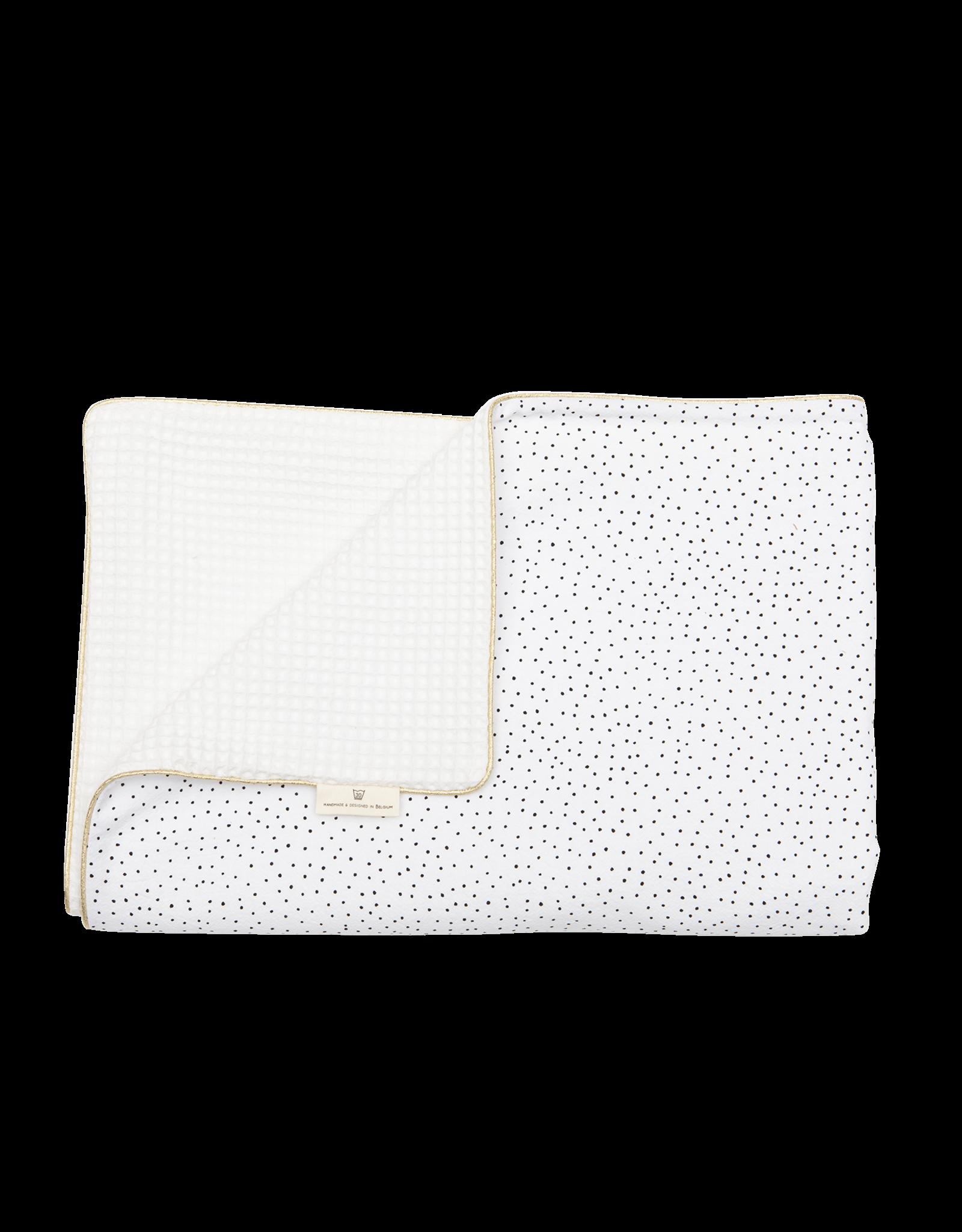 LIL'PAPOE Baby blanket  75 x 100 cm black dots