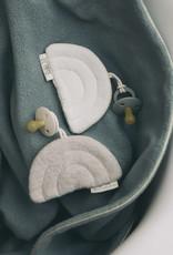 LIL'PAPOE acroche-tétine arc en ciel teddy crème