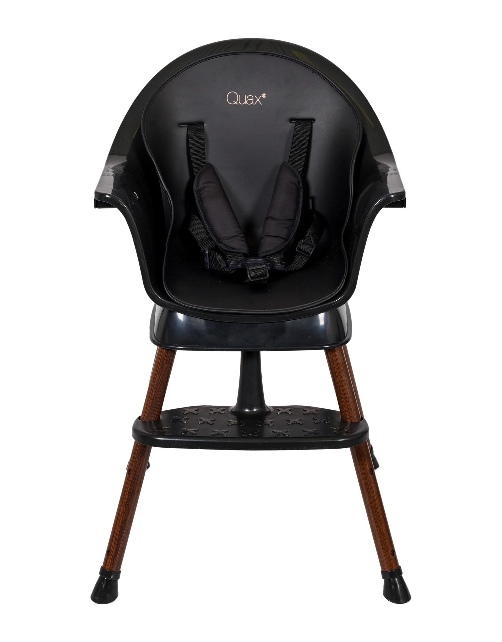 Quax Meegroeistoel - Ultimo 3 Luxe - zwart/walnoot