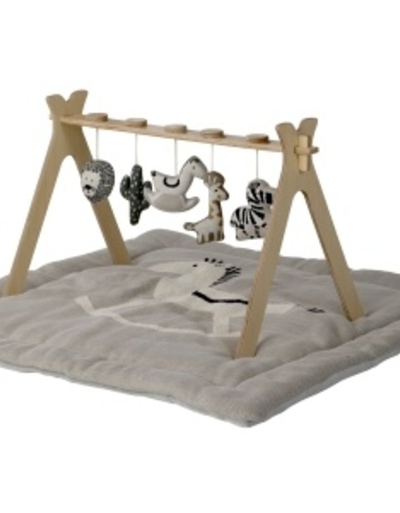 Quax Tipi - Activity Arch + 5 Knitted Toy - Jungle