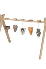 Quax Tipi - Activity Arch + 5 Knitted Toy - Ethnic