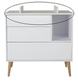 Quax Cocoon Extension Chest - Ice White