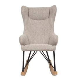 Quax Rocking Kids Chair De Luxe - Sand Grey