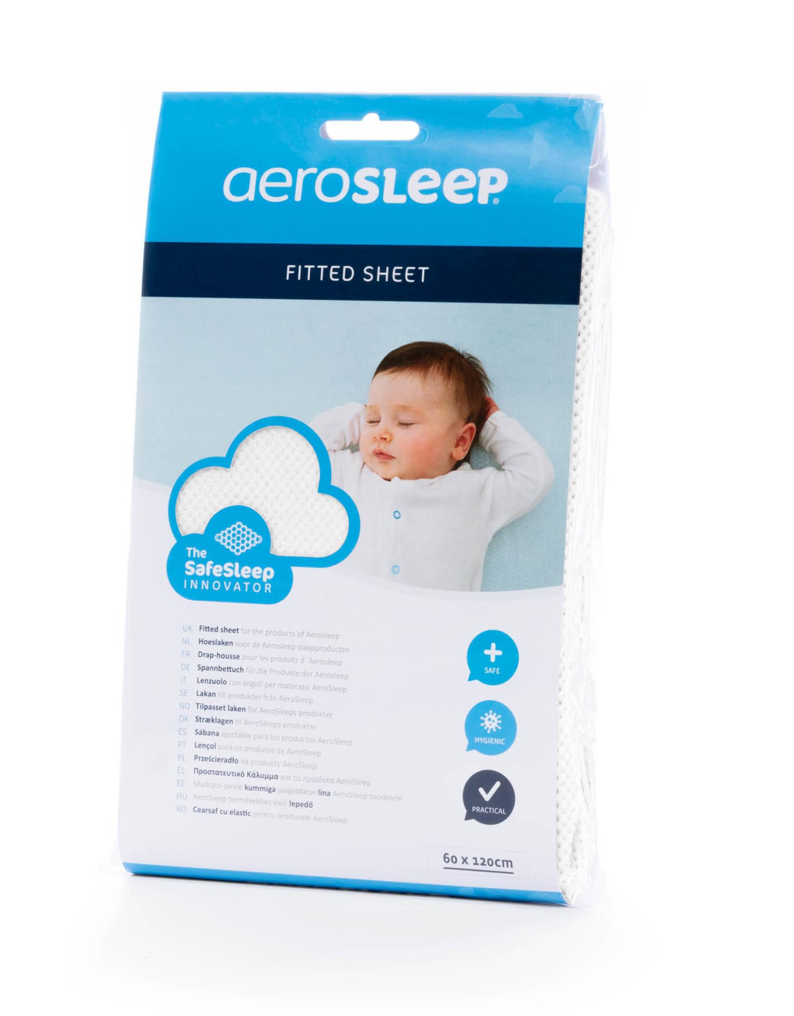 Aerosleep Hoeslaken 60 x 120 cm Safe Sleep Wit