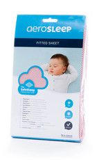 Aerosleep Drap-housse 60 x 120 cm Safe Sleep Pink