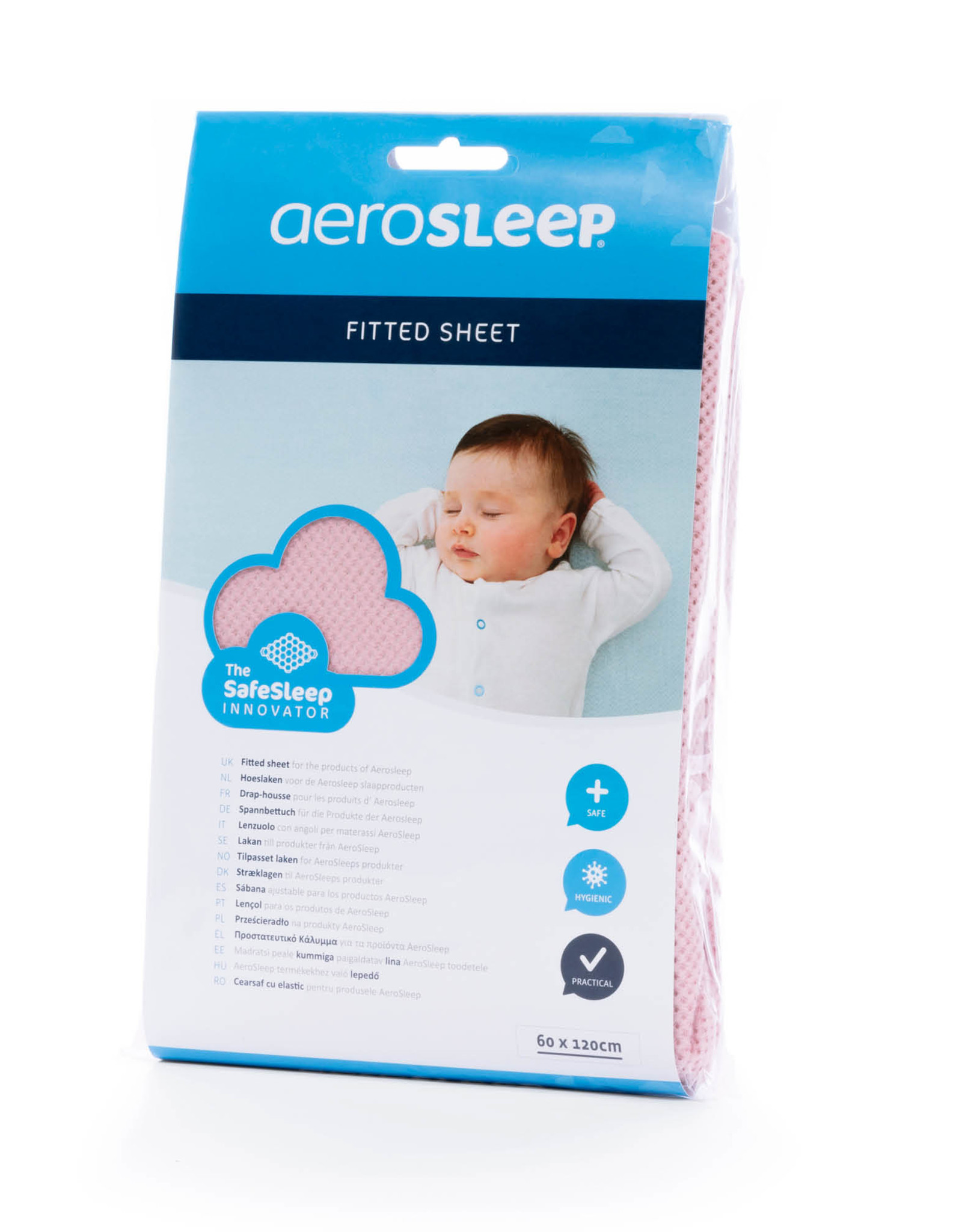 Aerosleep Hoeslaken 60 x 120 cm Safe Sleep Roze