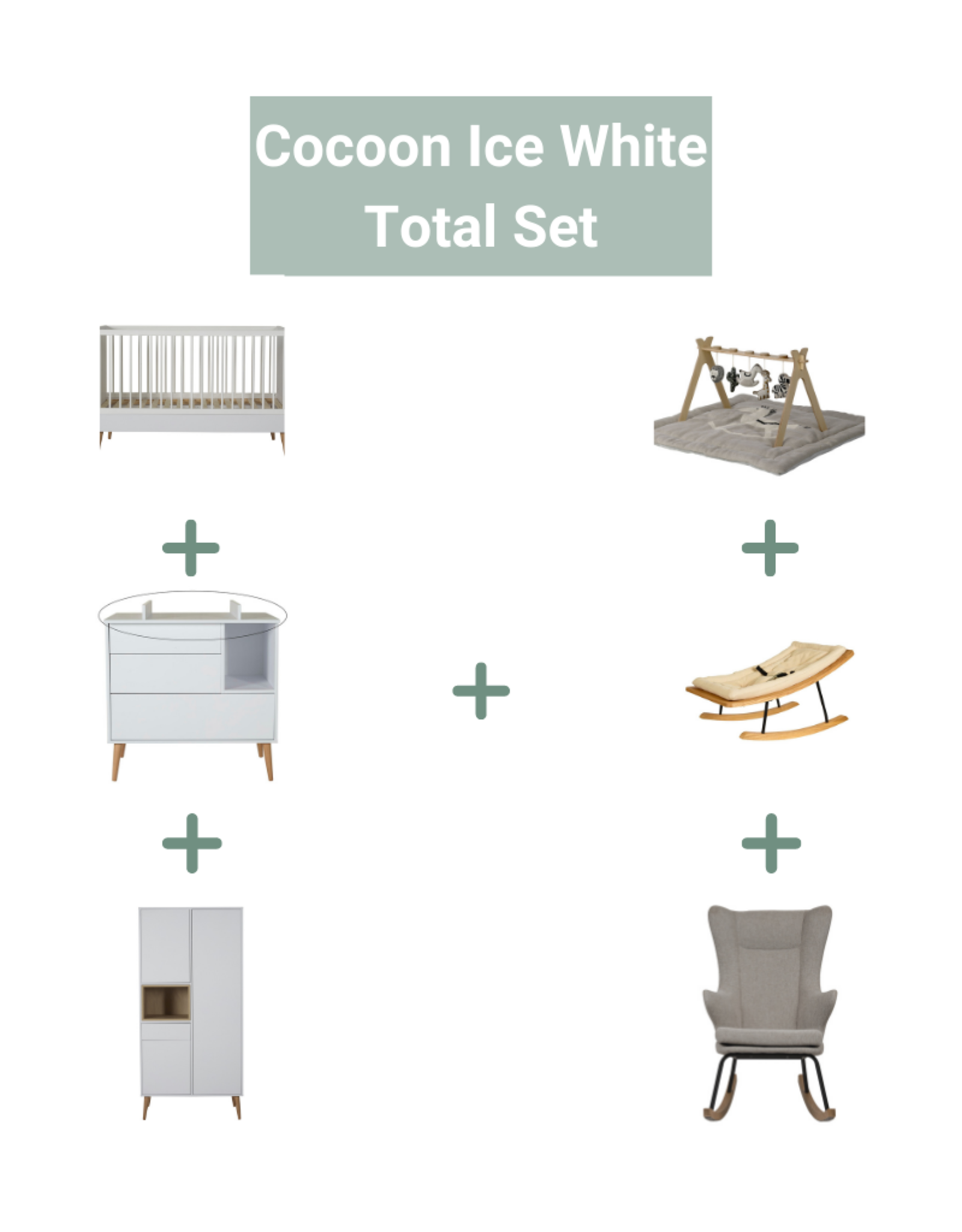 Quax Cocoon Ice White Total Set