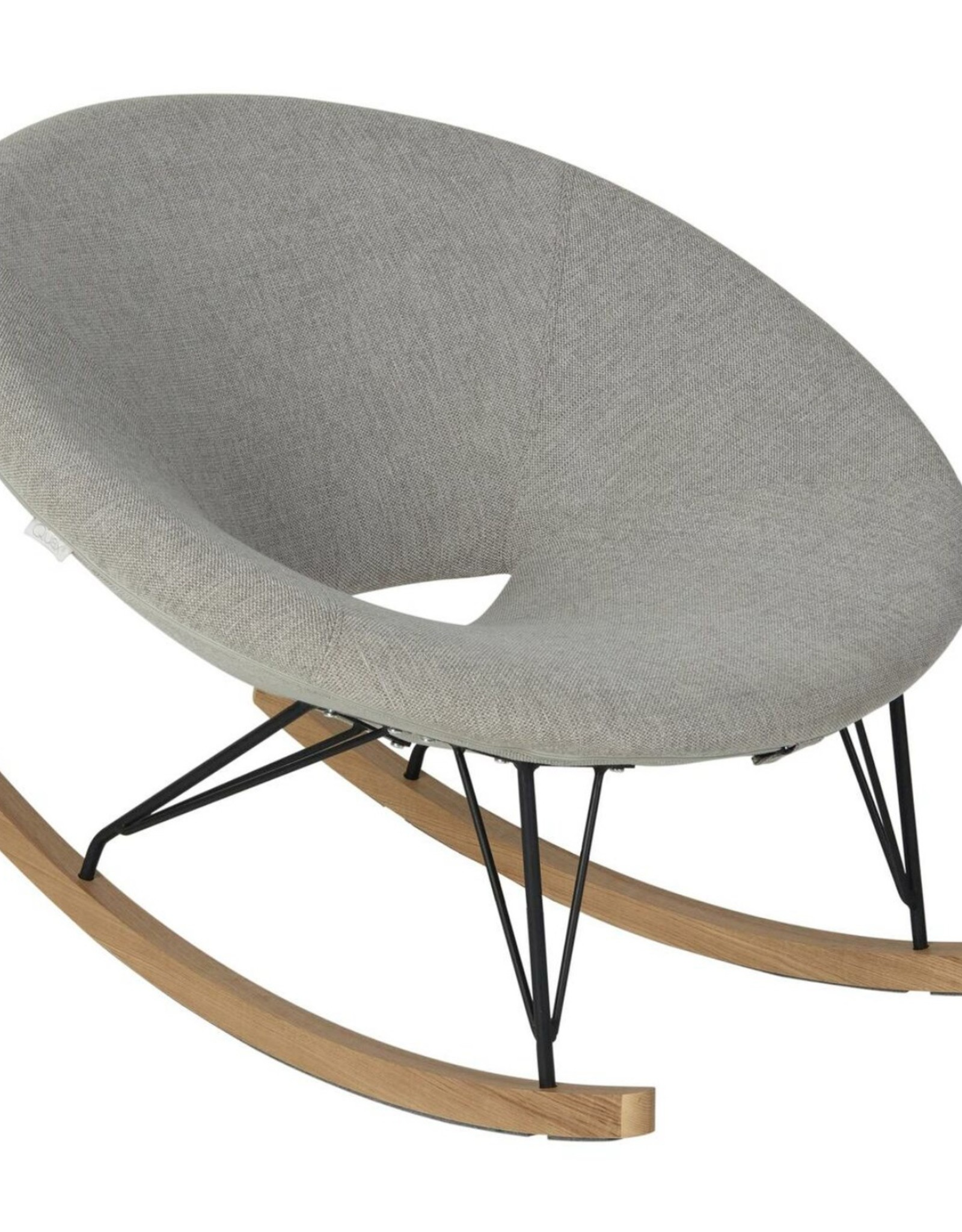 Quax Rocking Adult O Chair De Luxe - Sand Grey