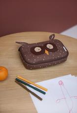 Trixie Rechthoekige pennenzak - Mr. Owl