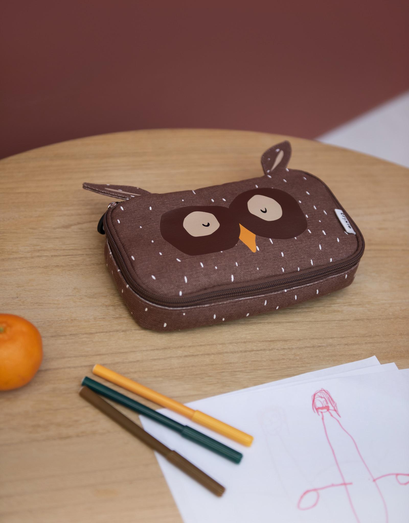 Trixie Pencil case rectangular - Mr. Owl