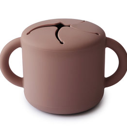 Mushie Snack Cup (Cloudy Mauve)