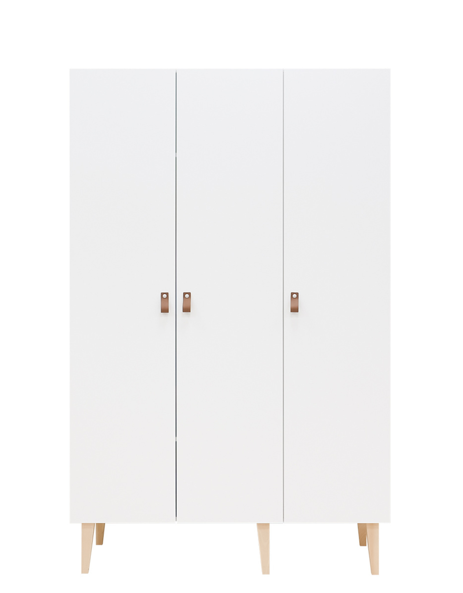 Bopita 3-DOOR WARDROBE INDY WHITE/NATURAL