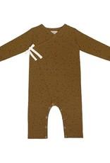 Little Indians Jumpsuit Spatter - Vintage Olive  0 - 3 m