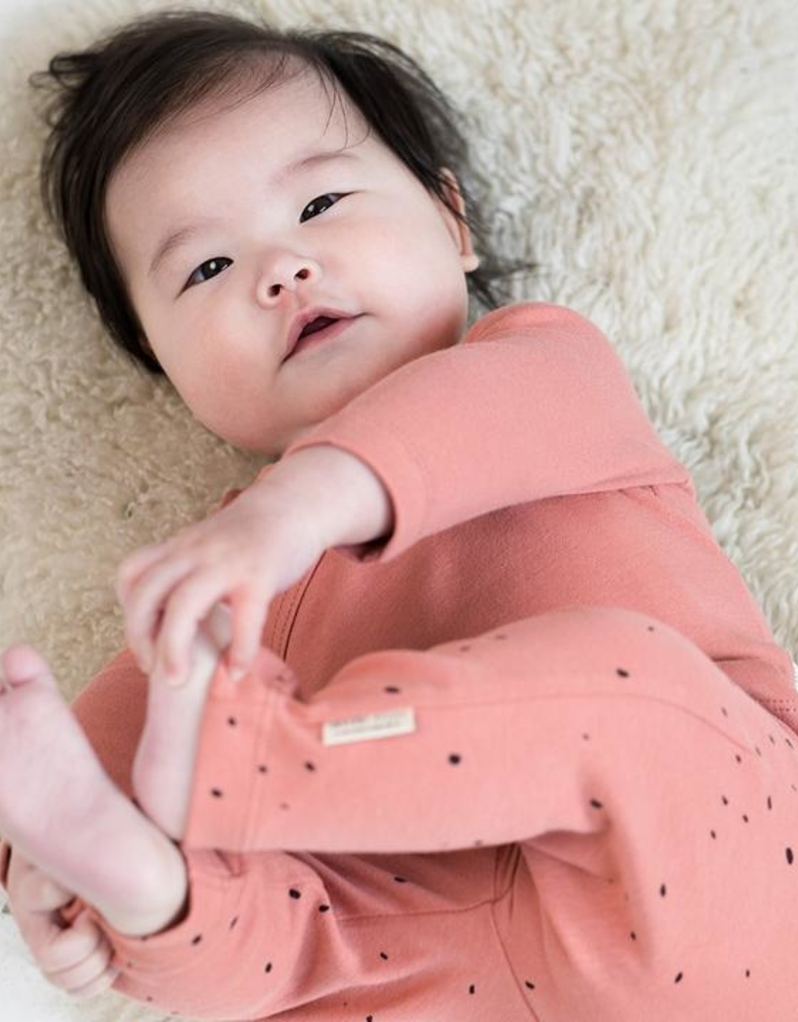 Little Indians Romper Longsleeve  - Canyon Clay 0 - 1  m