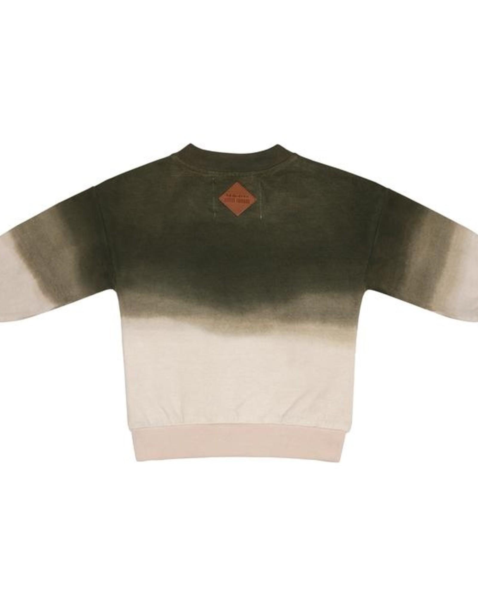 Little Indians Sweater - Degrading Dye Dark Green 0 - 3 m