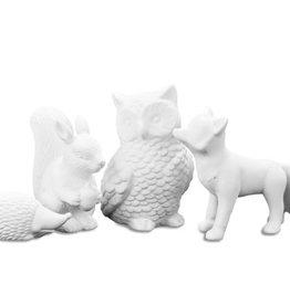 It's About Romi Fox, owl, hedgehog porcelain
