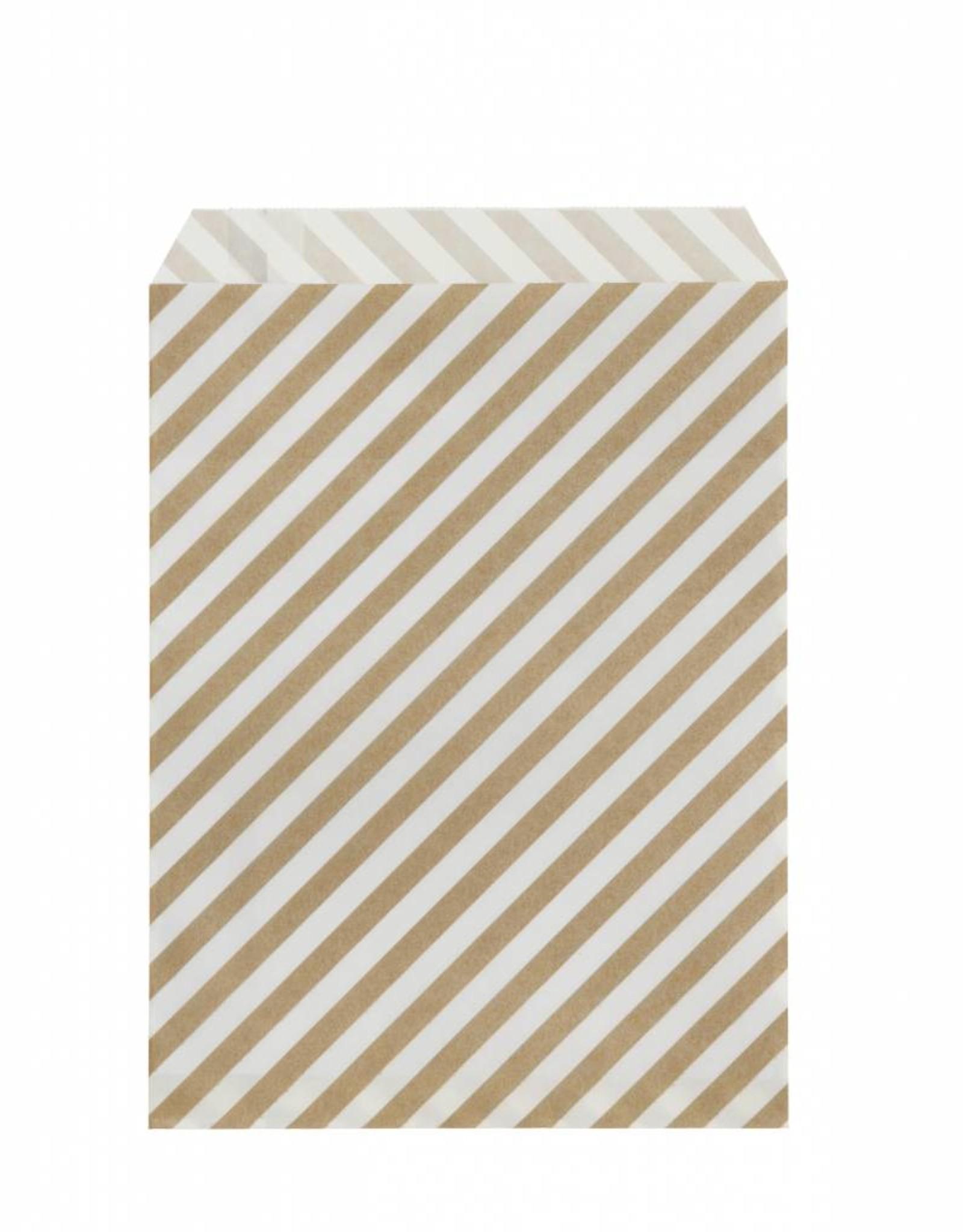 Ferm Living Paper bags gold stripes M