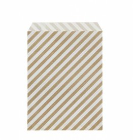 Ferm Living Paper Bags - Gold Stripes - M