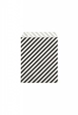 Ferm Living Paper Bags - Black Stripes - S