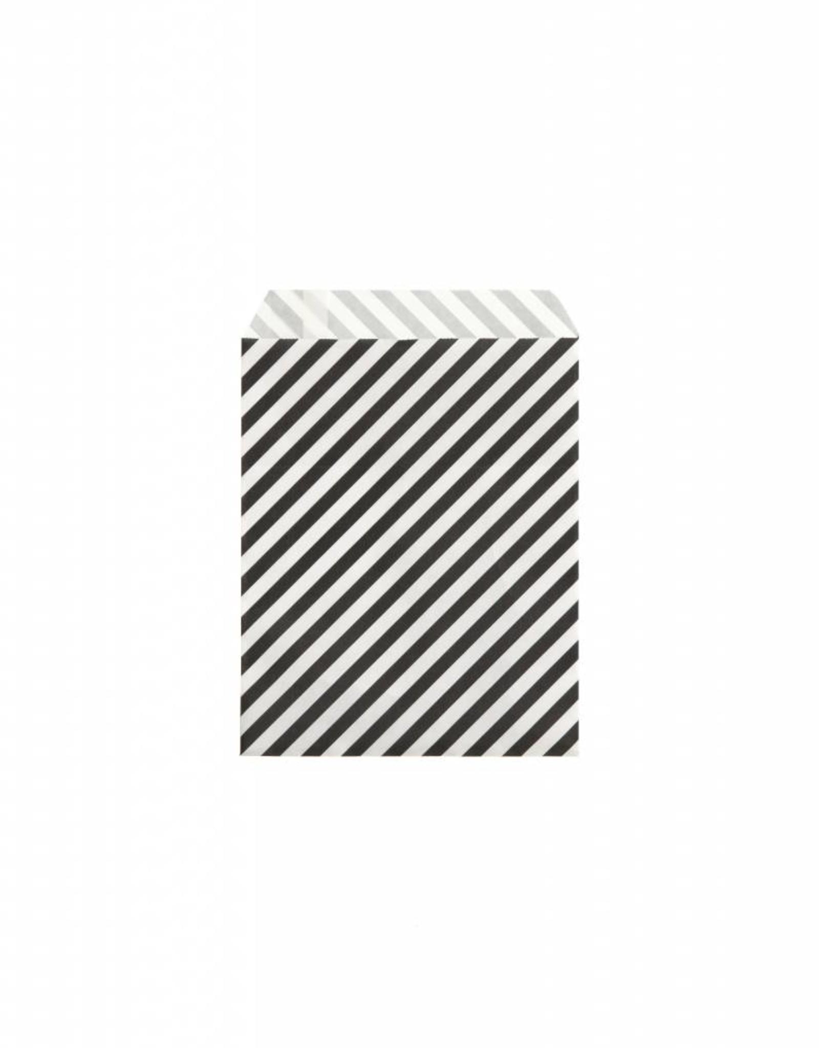 Ferm Living Sac papier rayures noir