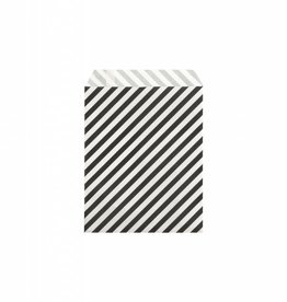 Ferm Living Paper Bags - Black Stripes - S