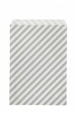 Ferm Living Paper Bags - Grey Stripes - L