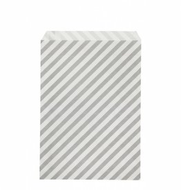 Ferm Living Paper Bags - Grey Stripes - L