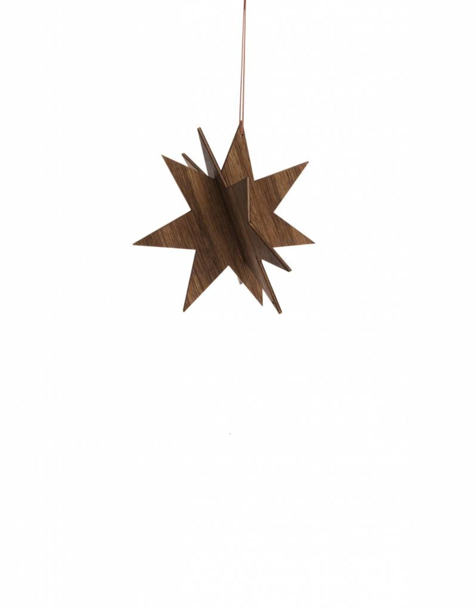 Ferm Living Wooden Star Small - Smoked Oak van Ferm Living